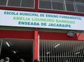Inauguração do Ginásio da Escola Amélia - Enseada de Jacaraípe