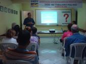 """Apresentação do Projeto """"Calçada Legal """" para comunidade da Praia da Costa"""