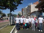 Participando da 3ª Caminhada do Hospital Evangélico de Vila Velha pelo Dia Nacional do Doador de Órgãos
