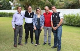 Chiabai visita curso da Guarda Municipal de VV