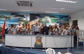 """""""Escola na Câmara"""": UMEF Ana Bernardes Rocha"""