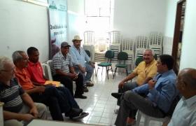 Visita a Federação das Associações de Moradores da Serra (Fams).