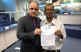 Reunião com Coordenador do Conselho Comunitário de Vila Velha (CCVV), Wradmir Vieira
