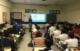 Palestra sobre Mobilidade Urbana na Faculdade Novo Milênio