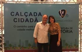 Inauguração da Calçada Cidadã no entorno do Shopping Vitória