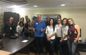 Com amigos de empresa no Centro, Vila Velha
