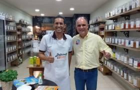 Visita a amigo comerciante em Itaparica, Vila Velha