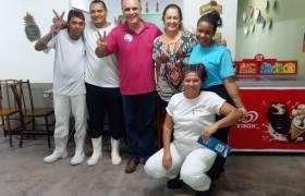 Visita a restaurante em Itapuã